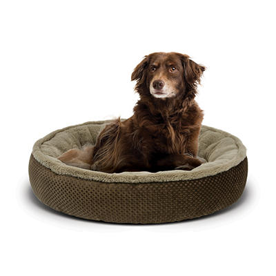 "Berkley Jensen 24"" Plush Round Pet Bed - Assorted"