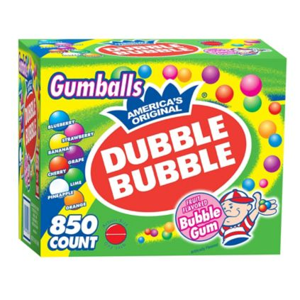 Dubble Bubble Bubble Gum Gumballs 850 Ct Bjs Wholesale Club
