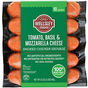 Wellsley Farms Tomato Basil & Mozzarella Cheese Chicken Sausage, 32 oz.
