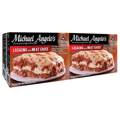 Michael Angelo's Lasagna with Meat Sauce, 4 ct./11 oz.