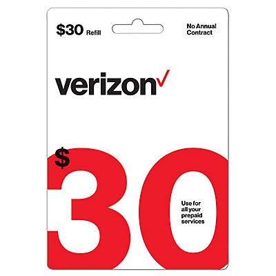 $30 Verizon Prepaid Gift Card