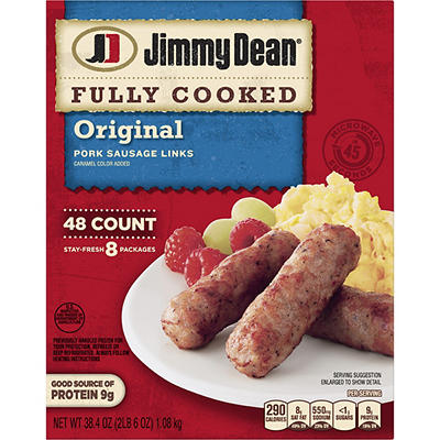 Jimmy Dean Fully Cooked Original Pork Sausage Links, 48 ct.