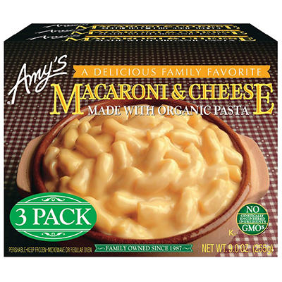 Amy's Mac and Cheese, 3 pk./9 oz.
