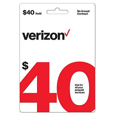 $40 Verizon Prepaid Gift Card