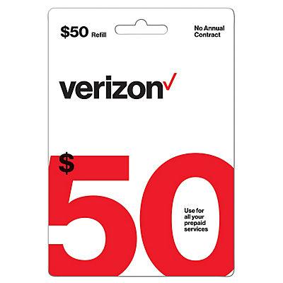 $50 Verizon Prepaid Gift Card