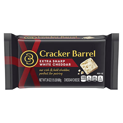 Cracker Barrel Extra Sharp White Cheddar Cheese, 24 oz.