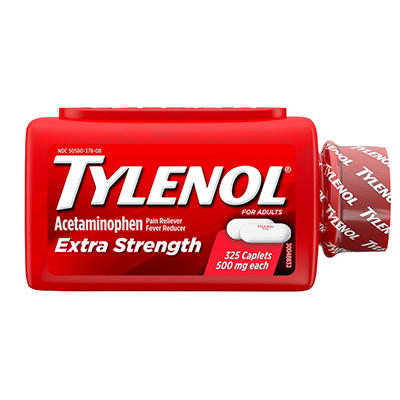 Tylenol Extra Strength 500 mg Caplets Fever Reducer and Pain Reliever,