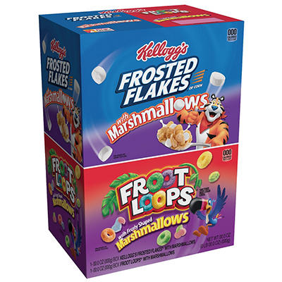 Kellogg's Frosted Flakes and Froot Loops Cereal Variety Pack, 2 pk./29