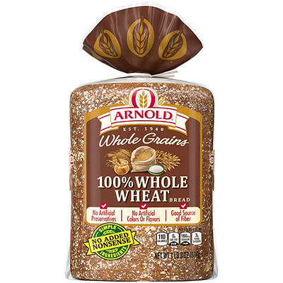 Arnold Whole Grain and Whole Wheat Bread, 24 oz.