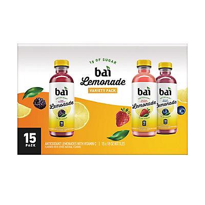 Bai Lemonade Variety Pack, 15 pk./18 fl. oz.