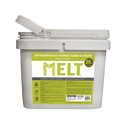 Snow Joe MELT Enviro-Blend Ice Melt with CMA Bucket, 25 lbs.