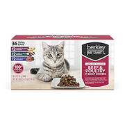 Berkley Jensen Grilled Beef & Poultry in Gravy Variety Pack for Cats, 36 ct./ 3 oz.