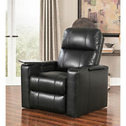 Abbyson Living Ryder Leather Theatre Recliner - Black