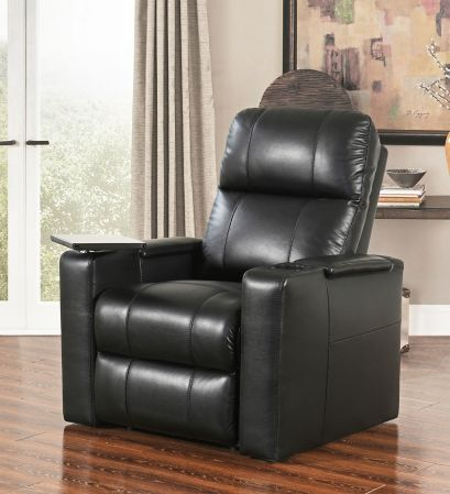 Abbyson Living Ryder Leather Theatre Recliner - Black - BJs ...