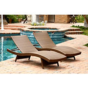 Abbyson Living Alesso Outdoor Chaise Lounges, 2 pk. - Brown