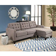 Abbyson Living Westin Reversible Sectional - Gray