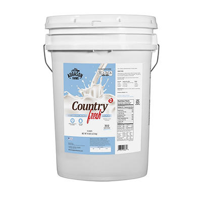 Augason Farms Country Fresh 100% Instant Non-Fat Dry Milk Pail, 14 lbs