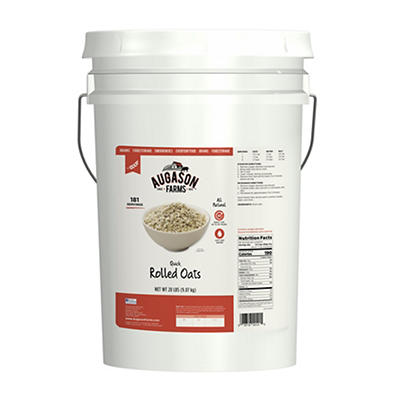 Augason Farms Quick Rolled Oats Pail, 20 lbs.