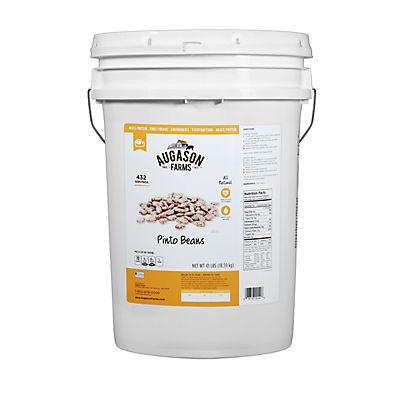 Augason Farms Pinto Beans Pail, 41 lbs.