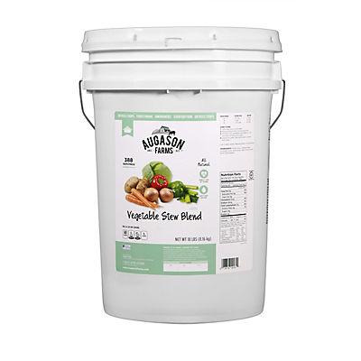 Augason Farms Vegetable Stew Blend Pail, 18 lbs.