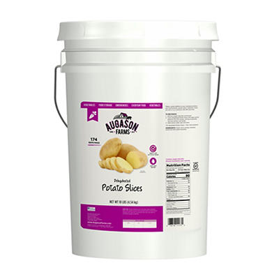 Augason Farms Dehydrated Potato Slices Pail, 10 lbs.