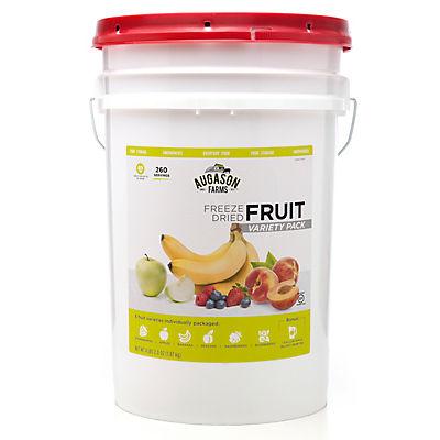 Augason Farms Freeze-Dried Fruit Variety Pail, 4 lbs. 2 oz.