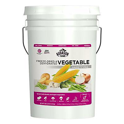 Augason Farms Freeze-Dried Vegetable Variety Pail, 3 lbs. 5.8 oz.