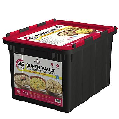Augason Farms Super Vault Emergency Food Supply, 45 Days, 1 Person