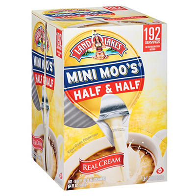 Land O'Lakes Mini Moo's Half & Half, 192 ct./0.28 fl. oz.