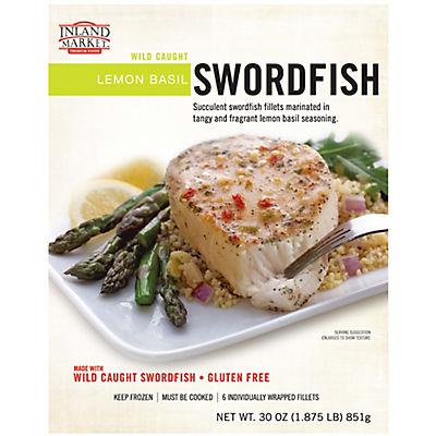 Inland Market Wild Caught Lemon Basil Swordfish, 30 oz.