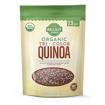 Wellsley Farms Organic Tri-Color Quinoa, 2.5 lbs.
