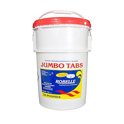 "Robelle 3"" Jumbo Chlorine Tabs, 50 lbs."