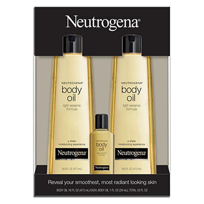 Neutrogena Body Oil Light Sesame Formula Sesame Oil, 2 pk./16 fl. oz.