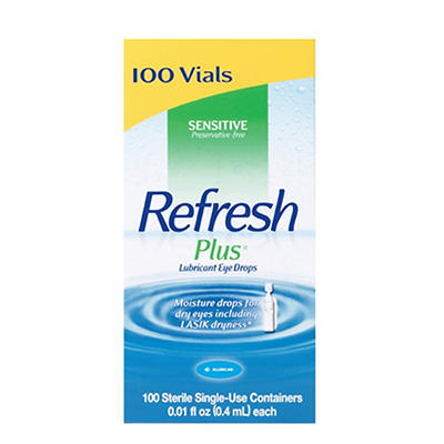 Refresh Plus Eye Drops, 100 ct./0.01 fl. oz.