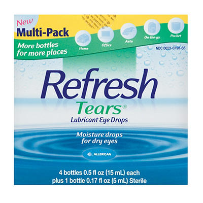 Refresh Tears Lubricant Eye Drops Multipack, 4 ct./0.5 fl. oz. with St