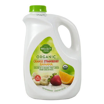 Wellsley Farms Organic Orange Strawberry Banana Juice, 89 fl. oz.