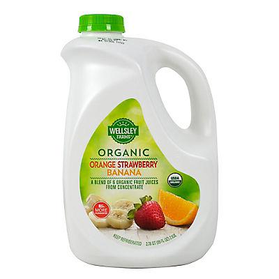 Wellsley Farms Organic Orange Strawberry Banana Juice, 89 fl. oz.