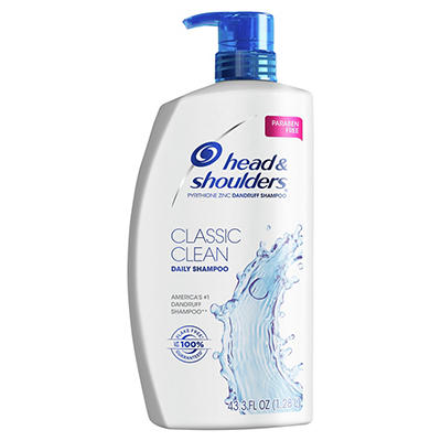 Head and Shoulders Classic Clean Anti-Dandruff Shampoo, 43.3 fl. oz.