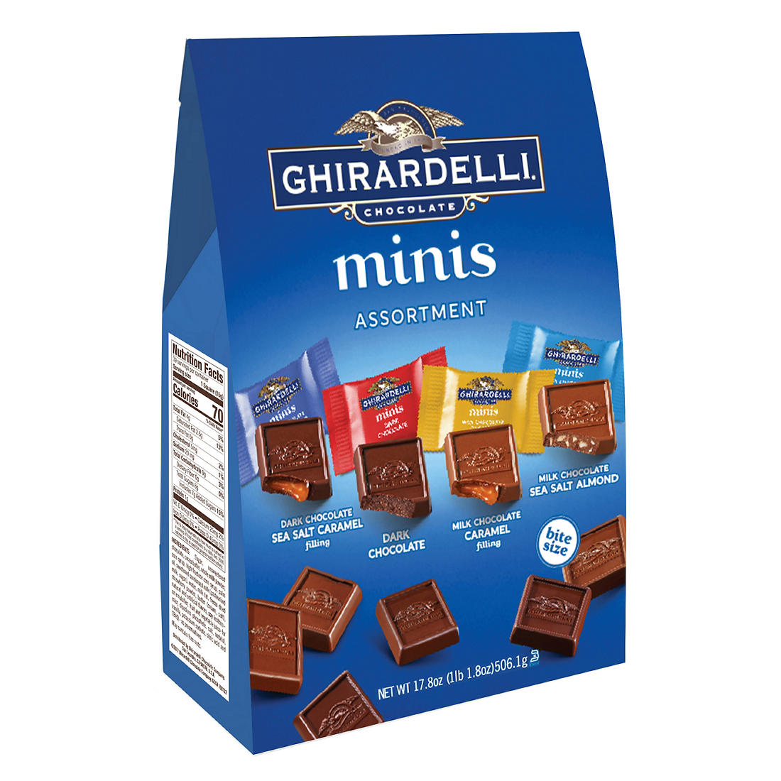 graphic regarding Ghiradelli Printable Coupons referred to as Ghirardelli Chocolate Minis Variety, 17.8 oz.