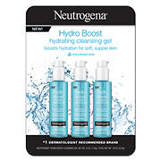 Neutrogena Hydro Boost Hydrating Cleansing Gel, 3 pk./6 oz.