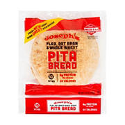 Joseph's Flax, Oat Bran and Whole Wheat Pita Bread, 12 ct.