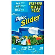 Ziploc Slider Freezer Bags Mixed Pack, 104 ct.