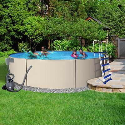 "Blue Wave Havana 15' x 52"" Aboveground Round Metal Pool"