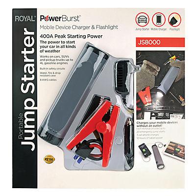 Royal 400-Amp Portable Jump Starter - Black