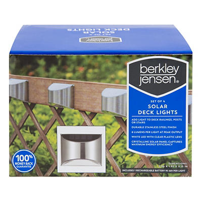 Berkley Jensen 6-Lumen Deck Lights, 4 pk. - Stainless Steel