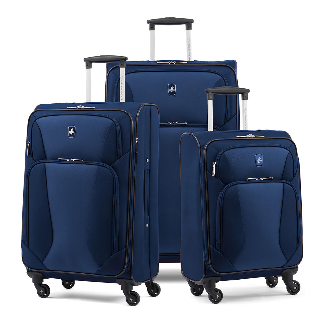 look for the latest usa cheap sale Atlantic 3-Pc. Expandable Spinner Luggage Set - Deep Blue