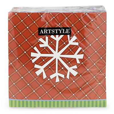 "Artstyle 13"" Napkins, 120 ct. - Playing in the Snow"