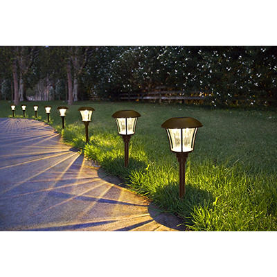 Berkley Jensen 10-Lumen Solar Path Lights, 8 pk. - Bronze
