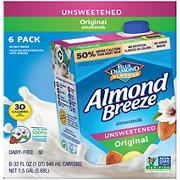 Almond Breeze Unsweetened Original Almond Milk, 6 pk./32 fl. oz.