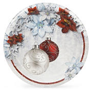 """Artstyle 10"""" Plates, 40 ct. - Shimmering Poinsettia"""